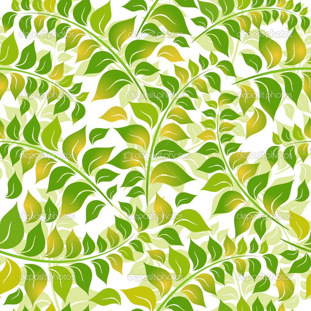 Green and white floral pattern - photo#6
