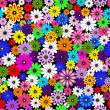 Seamless floral vivid pattern - Stock Vector