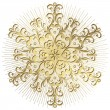 Gold snowflake — Stock Vector #7967193