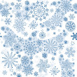 Stock Vector: Seamless pattern of winter