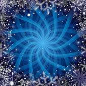 Jul mörk blå ram — Stockvektor