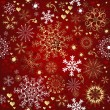 Stock Vector: Christmas red seamless pattern