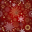 Christmas red seamless pattern — Stock Vector