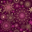 Christmas purple seamless pattern — Vector de stock