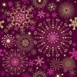 Kerstmis paarse naadloze patroon — Stockvector