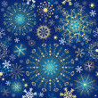 Stock Vector: Christmas blue seamless pattern