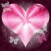 Moldura de dia dos namorados rosa — Vetorial Stock