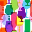Stock Vector: Colorful limpid wineglasses