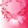 Pink valentines frame — Stock Vector #8563199