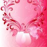 Pink valentines frame — Stock Vector