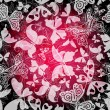 Seamless dark floral pattern - Stock Vector