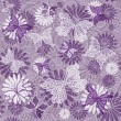 Seamless violet floral pattern - Stock Vector