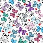 Floral valentine pattern — Stock Vector