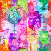 Colorful translucent wine glasses — Stock Vector