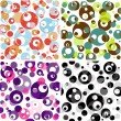 Set seamless translucent patterns — Stock Vector