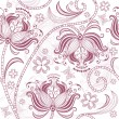 Burgundy seamless floral pattern — Stock Vector