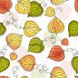 Autumn colorful seamless pattern — Stock Vector