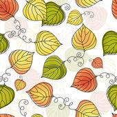 Höstens färgglada seamless mönster — Stockvektor