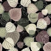 Dark autumn seamless pattern — Stock Vector