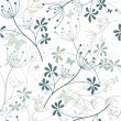Seamless white floral pattern — Stock Vector #9536874