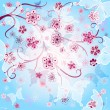 Stock Vector: Spring gentle background