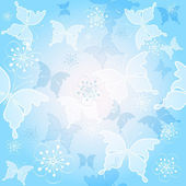 Spring blue seamless pattern — Stock Vector