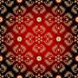 Seamless red-black-yellow vintage pattern - Векторная иллюстрация