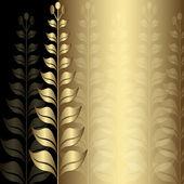 Vintage altın zarif çerçeve — Stok Vektör