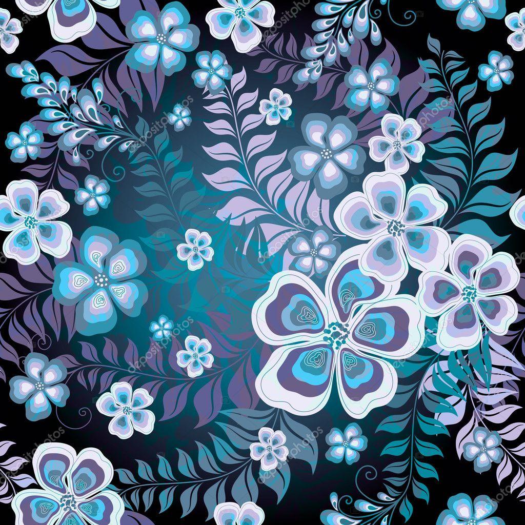Blue Floral Pat...