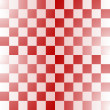 Seamless red-white checkered pattern — Stock Vector