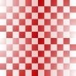 Stock Vector: Seamless red-white checkered pattern