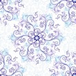 White-blue seamless pattern - 图库矢量图片