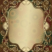 Vintage gold translucent frame — Stock Vector