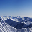 Panoramof winter mountains — Stock Photo #10558319