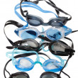 Goggles for swimming with water drops - 图库照片