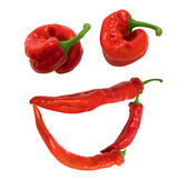 """Smile """"grin"""" composed of red chili peppers — Stock Photo"""