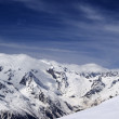 Stock Photo: View from ski slope