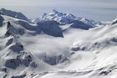 Caucasus Mountains. View from mount Elbrus. — Stock Photo