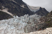 Glacier in Caucasus Mountains, Georgia. — Stock Photo