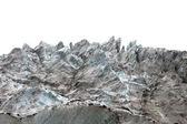 Icefall on white background — Stock Photo