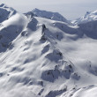 Snowy slopes of Caucasus Mountains — Stock Photo
