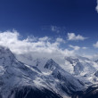 Mountains panorama. View from the ski slope. - Stock Photo