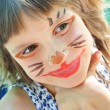 Stock Photo: Happy child with funny painted face