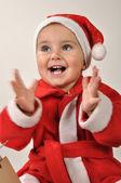 Mutlu clapping bebek kız — Stok fotoğraf