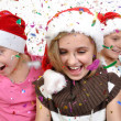 Children celebrating Christmas — Stock Photo