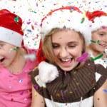 Children celebrating Christmas — Stock Photo