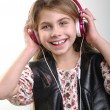Royalty-Free Stock Photo: Girl listening to music