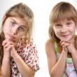 Two pleeding playful kid — Stock Photo #8182341