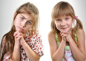 Two pleeding playful kid — Stock Photo