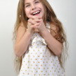 Laughing happy little girl — Stock Photo